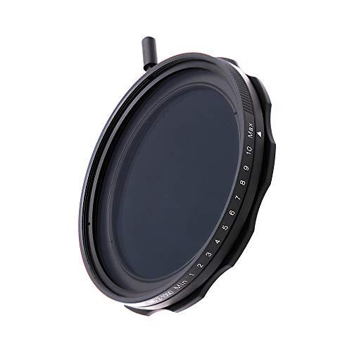 JONGSUN Filtre ND Variable 62mm, S-Pro MRC 16 Couches Revêtements Nano, 10 Arrêt ND2-ND1000 Graduées, Caméra Filter Densité Neutre