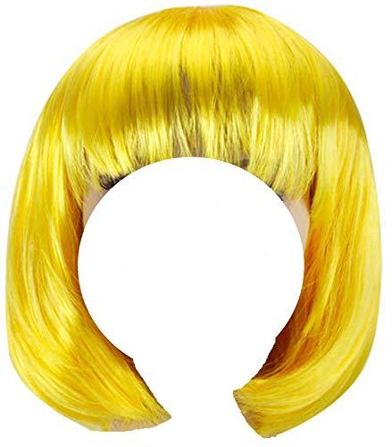 obtener pelucas amarillas cortas online