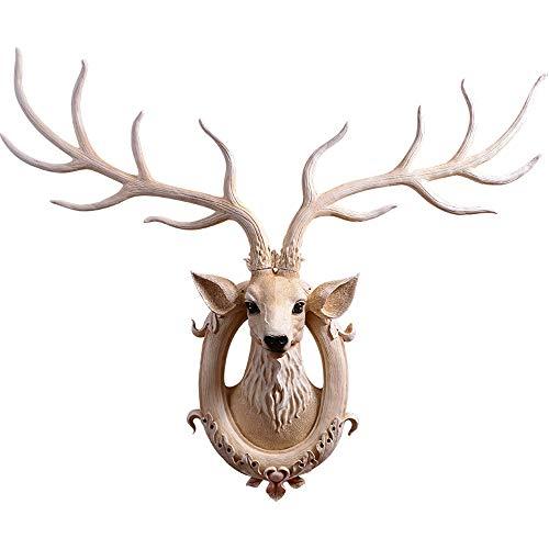 XIANGZHI grote decoratie van hertenkop voor dieren, decoratie in retro-stijl, open haard, creatieve Villa Corridoio hertencorpus hert muur hangend hoofd