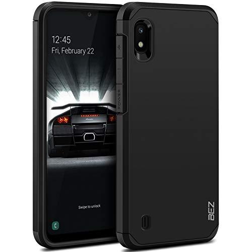 BEZ Funda Samsung Galaxy A10, Carcasa Protectora para Samsung A10 Antideslizante Ultra Híbrida Gota Protección, Cover Anti-Arañazos con Absorción de Choque Resistente, Negro