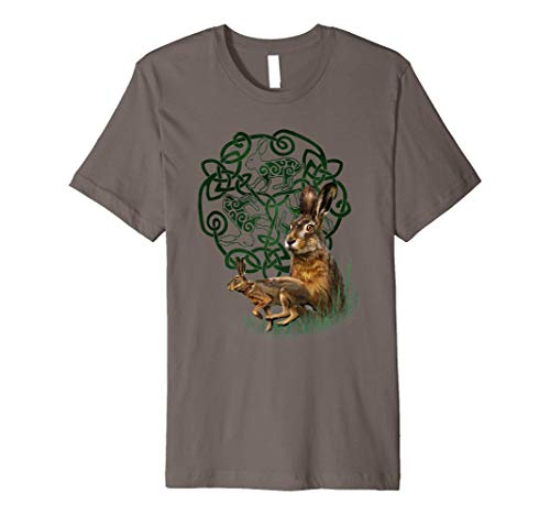 Celtic Knot Hare Rabbit Bunny T-Shirt