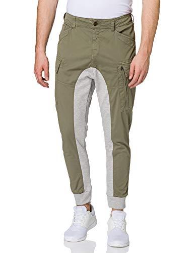 Desigual Mens TEOFRIDO Casual Pants, Green, 32