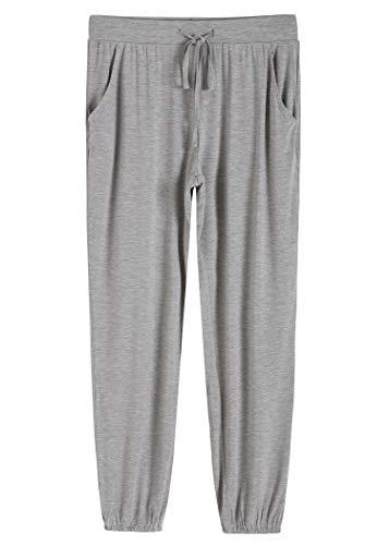 Latuza Women's Pajamas Pants Lounge Bottoms with Pockets 2X LightGray