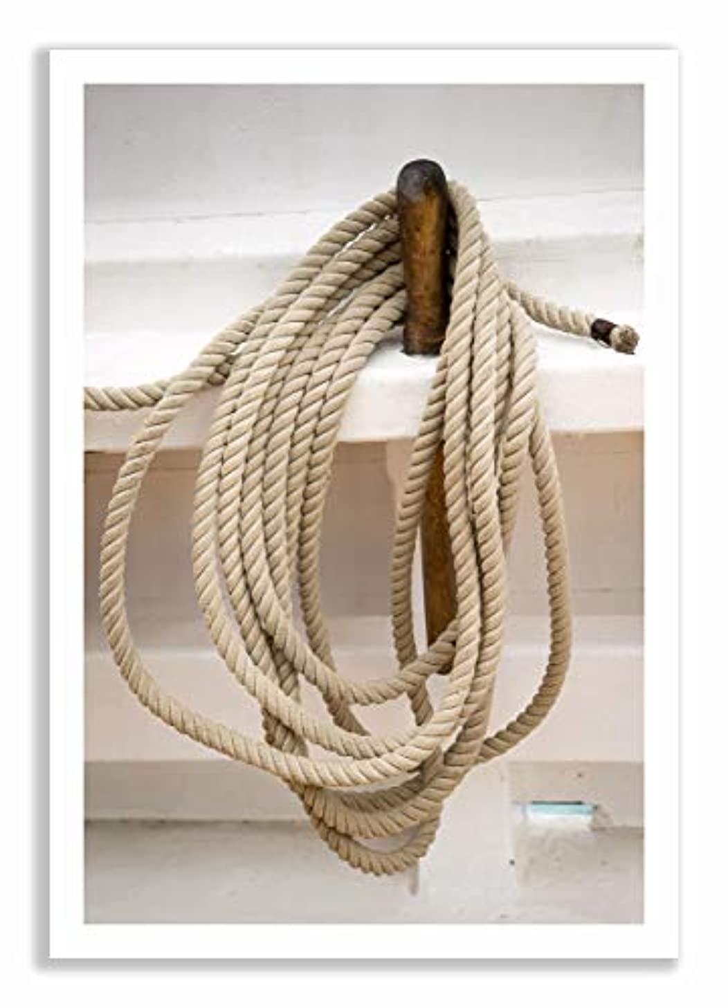 Boat Rope, Black Satin Aluminium Frame, Full Size, Multicolored, 50x70
