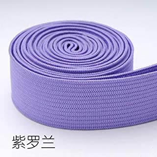TMYQM 20mm Colorful High-Elastic Elastic Bands Rope Rubber Band 2cm Spandex Ribbon Sewing Lace Trim Waist Band Garment Accessory 1M (Color : Purple)