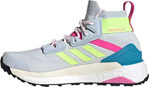 adidas Terrex Free Hiker Primeblue W, Wanderschuhe für Damen, Halo Blue Hi Res Yellow Screaming Pink - Größe: 38 2/3 EU