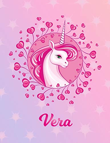 Vera: Unicorn Sheet Music Note Manuscript Notebook Paper – Magical Horse Personalized Letter V Initial Custom First Name Cover – Musician Composer … Notepad Notation Guide – Compose Write Songs