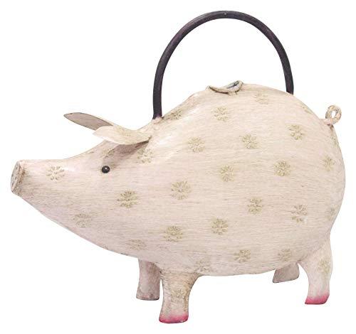 ETC witzige ausgefallene dekorative lustige Gießkanne als Hellrosa Schwein Metall handbemalt