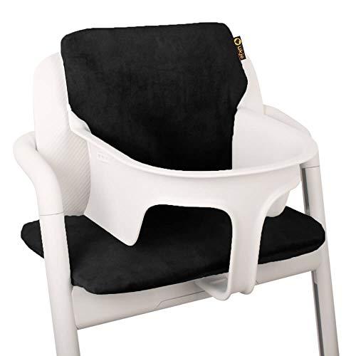 Baby Sitzkissen Sitzverkleinerer für Cybex Lemo Hochstuhl von UKJE Schwarz Samt Praktisch und dick gepolstert Maschinenwaschbar 2-teilig Öko-Tex Baumwolle