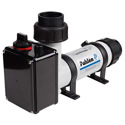 well2wellness® Pahlen Elektroheizer 9kW aus Kunststoff mit Heizstab aus Titan