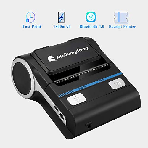 Mouwa Impresora T/érmica Port/átil Bluetooth 80Mm Multi-Funci/ón Impresora De Etiquetas De C/ódigos De Barras De Bajo Ruido R/ápida Impresi/ón A Alta Velocidad Soporte Android POS Multi-Idioma