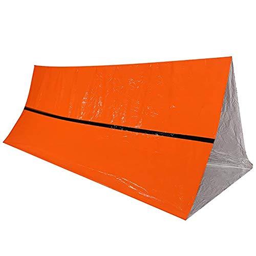 HWCP.CP Tente d'urgence Isolation Extérieure Réfléchissante De Protection De La Vie Tente Économiseur D'espace Couverture Orange 240 × 150Cm (2 Packs)