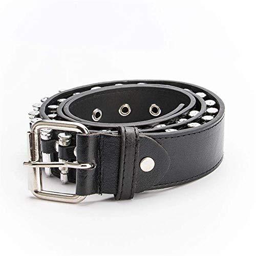 XY-man's belt Cómodo Cinturón de PU Cinturón de Remaches con diseño de...