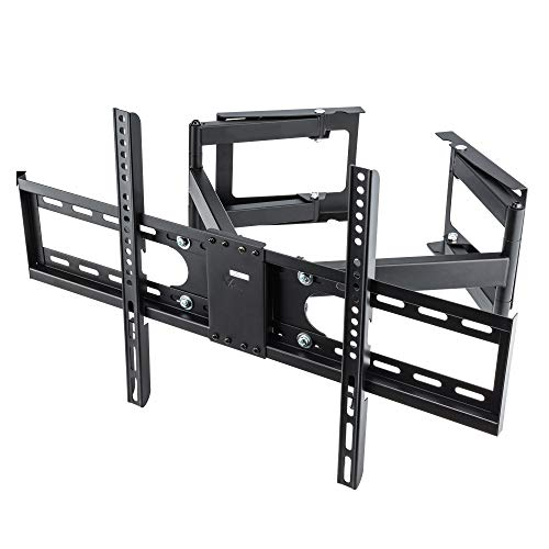 Vemount Corner TV Wall Mount Bracket Full Motion TV Corner Mounts for 32-65 inch Samsung LG Vizio Sony Sharp LCD LED OLED Plasma Flat Screen Panel up to 99 LBS VESA 600x400mm Swivel Articulating Arms