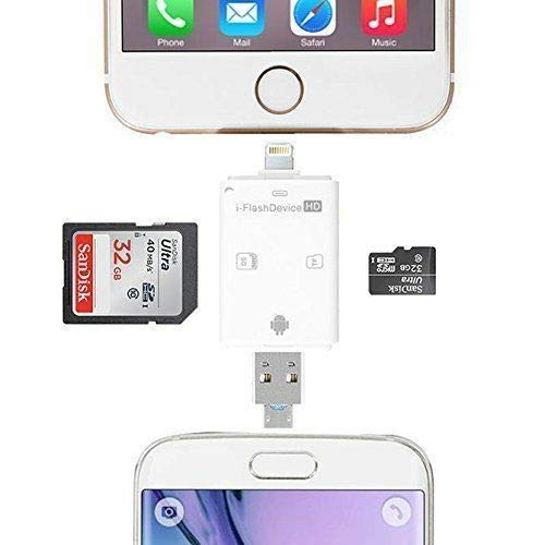 iFlash Drive USB Micro SD/TF SDHC Card Reader Adapter for iPhone iPad GGS12