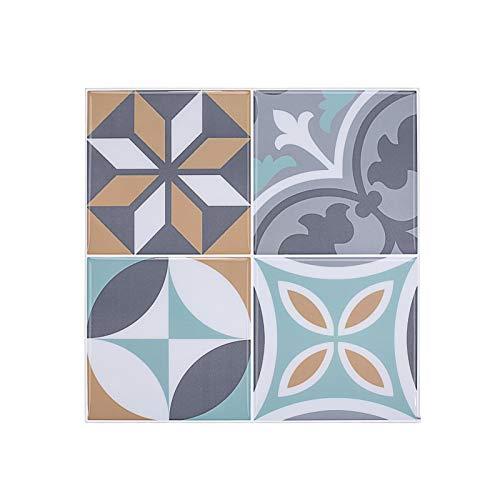 sknonr Einfache Selbstklebende Epoxidwandaufkleber, wasserdichte Nachahmung Fliesendekoration Wallpaper Schlafzimmer Wohnzimmer Hintergrundwand (Color : C)