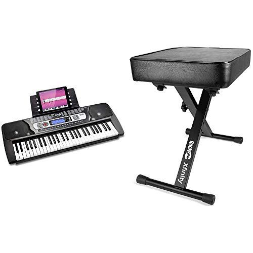 RockJam Electronic Keyboard RJ654-MC and Keyboard Bench Set