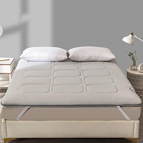KMatratze Colchón de algodón Tatami Espeso, Cuatro Temporadas colchoneta Universal Tatami colchón futón, colchón Plegable Estera de protección (Color : A, Size : 120x200cm)