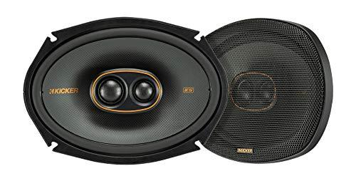 Kicker 47KSC69304 KS Series Automotive Car Audio 6x9 Inch 150 Watt and 4 Ohm 3 Way Triaxial Full Range Speaker with Thin Mount Grille