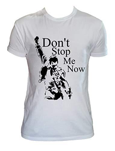 Camiseta Freddie Mercury Queen Fan Art Hombre Niño Don't Stop Me Now Grupos de Rock, 5-6 Años