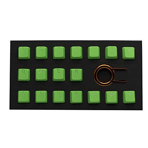 Tai-Hao Rubber Keycap Set (18) - Neon Green