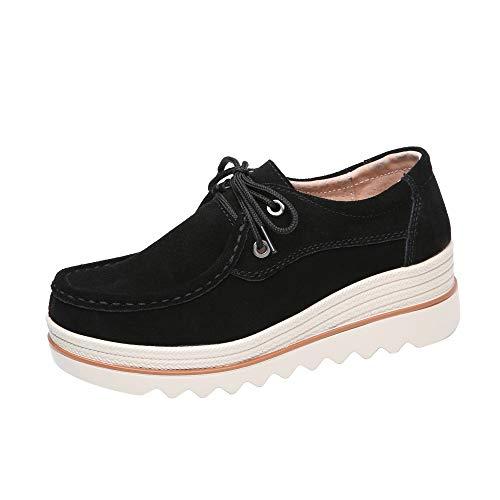Damen Schuhe, Cramberdy Schuhe Damen Sommerschuhe Damen Keilabsatz Freizeit Halbschuhe Turnschuhe Damen Weiss Sneaker Schuhe Damen Sommer Schuhe Schwarz Damen Sportschuhe Damen Freizeitschuhe