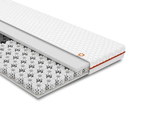 OCTASLEEP Smart Plus Topper 100x200 – kühlende Matratzenauflage mit Federn aus Memory Foam – 3 Zonen für ideale Unterstützung – atmungsaktiver Topper