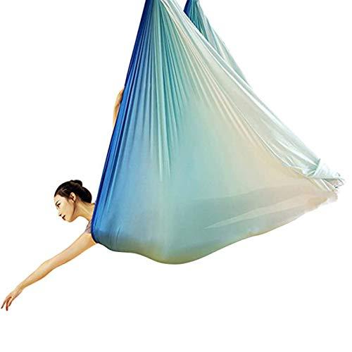 WWL Hamaca de yoga aérea 5 metros multicolor 2021 nueva tela importada aérea anti-gravedad yoga hamaca columpio volar yoga cama bodybuilding equipo inversión hamaca volar yoga swing