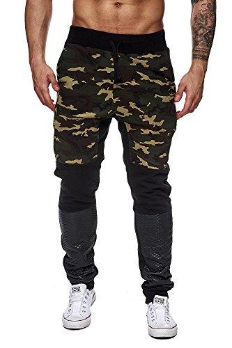 Violento heren trainingsbroek leger camouflage joggingbroek dames sportbroek fitness broek