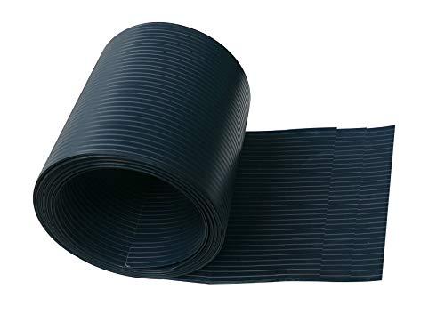 Ventanara Sichtschutzstreifen aus Hart PVC für Stabmattenzaun Anthrazit Sichtschutz Windschutz 19 cm x 2,55 m (10 Streifen)