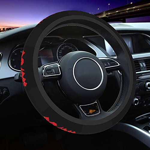 ACDC Car Steering Wheel Cover Car Anti-Skid Durable Automotive Interior For Men and Women 15inches