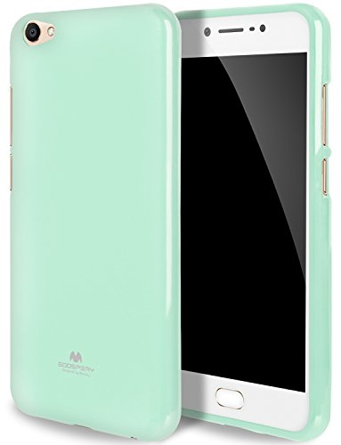 GOOSPERY Pearl Jelly for Vivo V5 / Y67 Case with Screen Protector Slim Thin Rubber Case (Mint) VIVOV5-JEL/SP-MNT