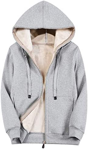 ThEast Hoodies for Women Winter Fleece Sweatshirt Full Zip Up Thick Sherpa Lined Women s Casual product image