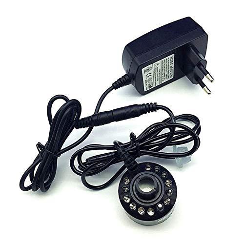 Calentador de invernadero Nueva 12 LED Industrial Incubadora humidificador ultrasónico fabricante de la niebla nebulizador Fuente de agua de estanque de humidificador de aire del atomizador Para perro