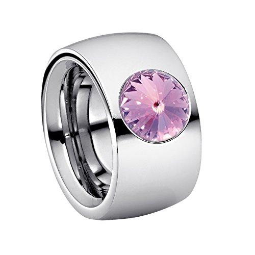 Heideman anillos mujer de acero inoxidable color plata 925 pulida anillo mujer con joyería