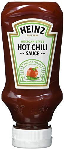 Heinz Hot Chili Sauce Kopfsteherflasche, 4er Pack (4 x 220 ml)