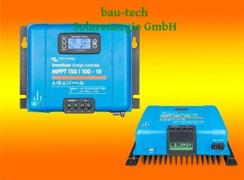 Victron SmartSolar MPPT 150/100-TR für 12V, 24V, 48V Solar-Laderegler mit LCD Display von bau-tech Solarenergie GmbH
