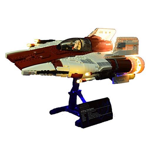 HYZM Juego de luces LED para Lego 75275 Star Wars A-Wing Starfighter, juego de iluminación para Lego 75275 (solo luz LED, sin kit Lego)