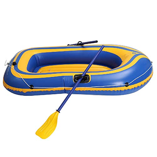 Gommone Pagaie della Zattera del Lago Fluviale del Kayak della Barca da Pesca A Remi Gonfiabile per 2 Persone 180 * 96 Cm Gommone Gonfiabile