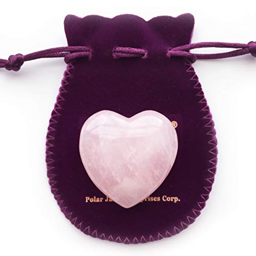 Puffy Heart Hand-Carved of 100% Natural Crystal Stones for Chakra Energy Healing, Meditaion, Massage and Decoration