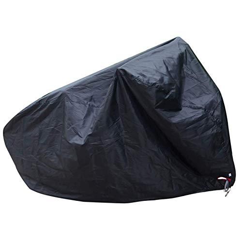 XINTUON Cubierta impermeable de la bicicleta de las cubiertas de la bici con el agujero de bloqueo anti lluvia protección negro fácil de embalar
