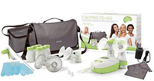 Ardo Calypso-To-go elektrische Milchpumpe – Ultra leise 3-in-1 Doppel-, Einzel- & Handmilchpumpe im Set für unterwegs – Umfangreiche Ausstattung – BPA-frei – Schweizer Medizinprodukt
