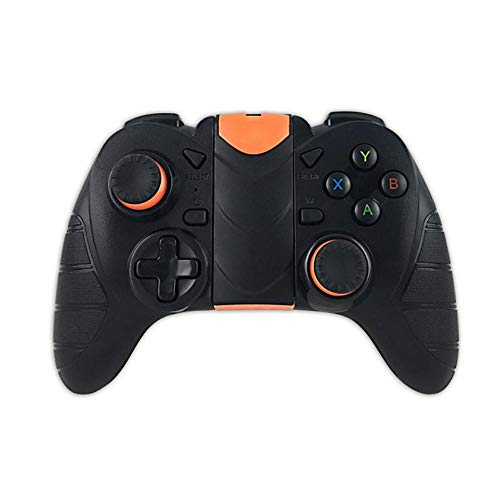 Game Controller Bluetooth3.0 Wireless Gamepad Turbo Game Controller For IOS Andriod Win 7/8/10 PS3 Mobile Phone PC TV BOX Gamepad (Color : Black, Size : One size)