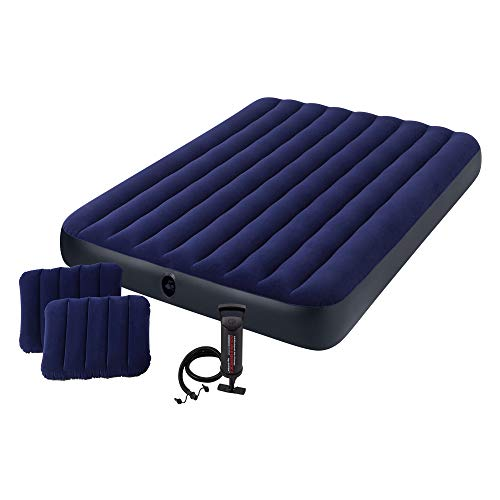 Intex Classic Downy Set Luftbett - Queen - 152 x 203 x 22 cm - 4-teilig - Blau