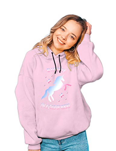 Real Basics Girls Cotton Hooded Sweatshirt (RB-GHood-P1-1516-Pink-Ind_Pink_15 Years-16 Years)