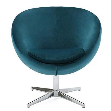Sphera Dark Teal Velvet Modern Chair