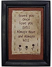 CVHOMEDECO. Primitiva Vintage Love You Still Costura Marco montado en la Pared para Colgar Decor Art, 20,3 x 27,9 cm