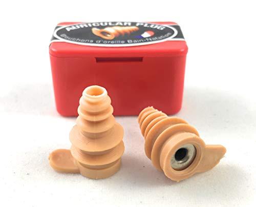 Auricular Plug - Depuis 1927 – Bouchons d'oreilles pour l'Eau - Ajustables et Réutilisables - Fabriqués en France - Couleur Sable - Piscine - MER - Bain - Natation - Surf & ACTIVITÉS Nautiques