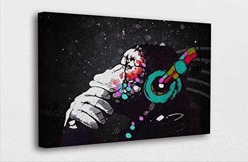 mlpnko DIY Pintar por números DJ Mono Pintar por Numeros Kit con Pinceles y Acrílica Pinturas DIY Pintura al óleo para Niños Adultos