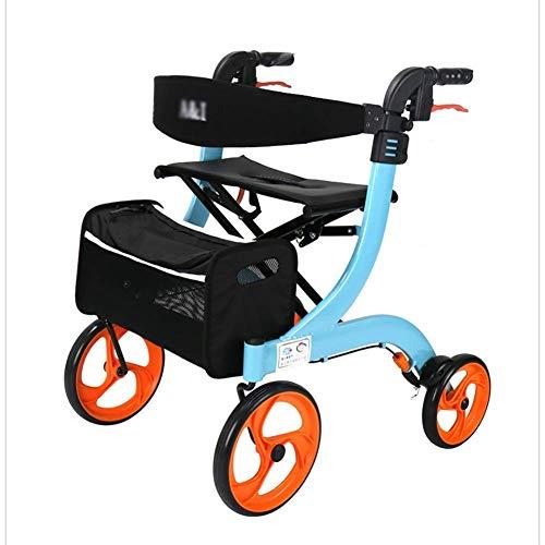 BSJZ Confíe en Andador para Caminar para Personas Mayores Andador con Andador Andador para Personas Mayores, Andador liviano con Asiento y Ruedas Ayudas médicas para
